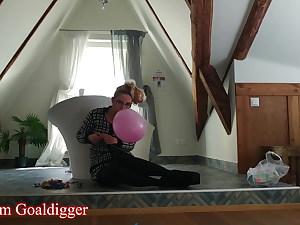 Inhaling Balloons in Findom Fashion part 1