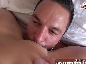 Hot blonde sitting on this dude's nasty face getting eaten out
